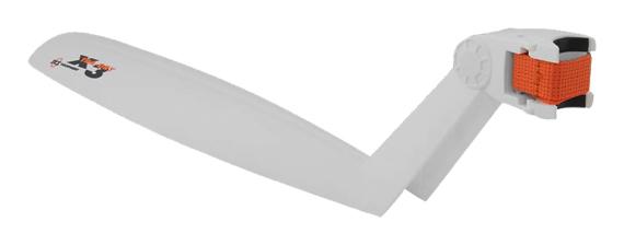 blatník zadní SKS X-TRA-DRY bílý