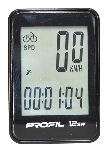 cyklocomputer PROFIL-1501 12SW bezdrátový černý