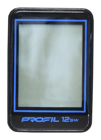 cyklocomputer PROFIL-1501 12SW bezd. černo-modrý