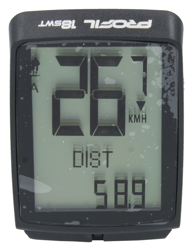 cyklocomputer PROFIL-1504 18SWT bezd. černý