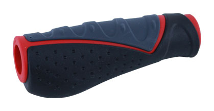 gripy PROFIL 709 AD3 ergonom. černo-šedo-červený