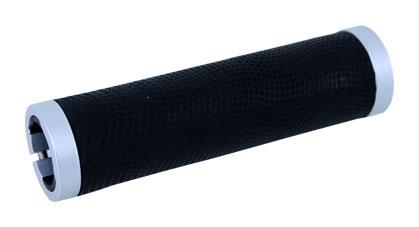 gripy PROPALM HY-97100 S kožený černo-stříbrný