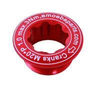 šroub do klik AMOEBA Al-CNC M20x27mm červený
