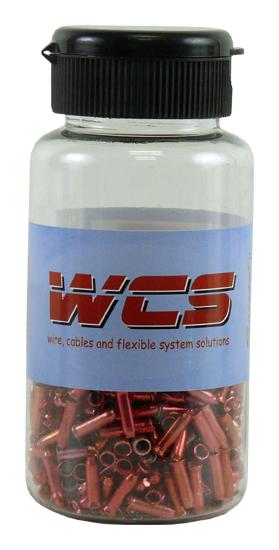 koncovka lanka SACCON-W107 červené /500ks/