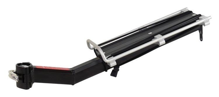 nosič zadní KW-671-01 na sedl. bez blatníku černý