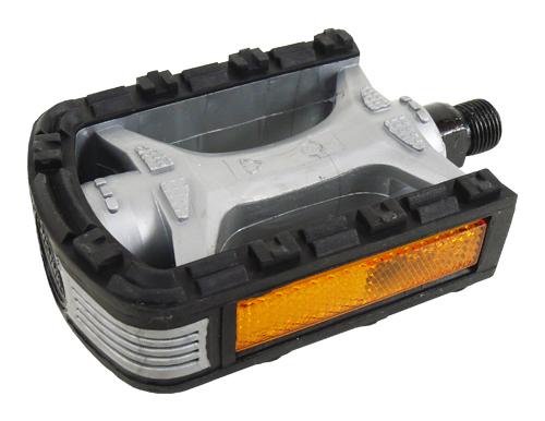 pedály XERAMA FP-802 plast černo-stříbrné