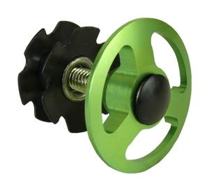 """ježek NECO C2862D 1-1/8"""" Al zátka zelená"""
