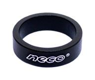 """podlož.řízení NECO AS3610 1-1/8"""" 10mm černá mat."""