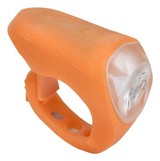 světlo přední PROFIL JY-378M silicon USB oranžové