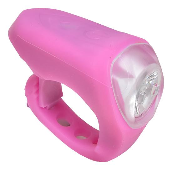 světlo přední PROFIL JY-378M silicon USB růžové