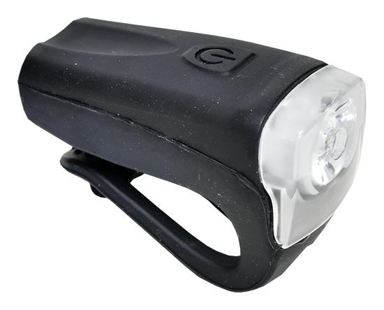 světlo přední PROFIL JY-378FU silicon 3WUSB černé
