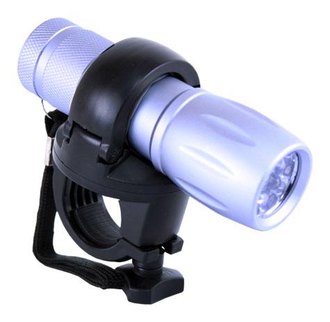světlo přední MRX-902 Al 9-LED stříbrné