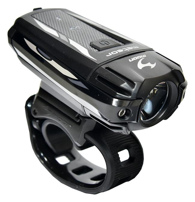 světlo přední MOON METEOR C3 1LED USB černé 300lm