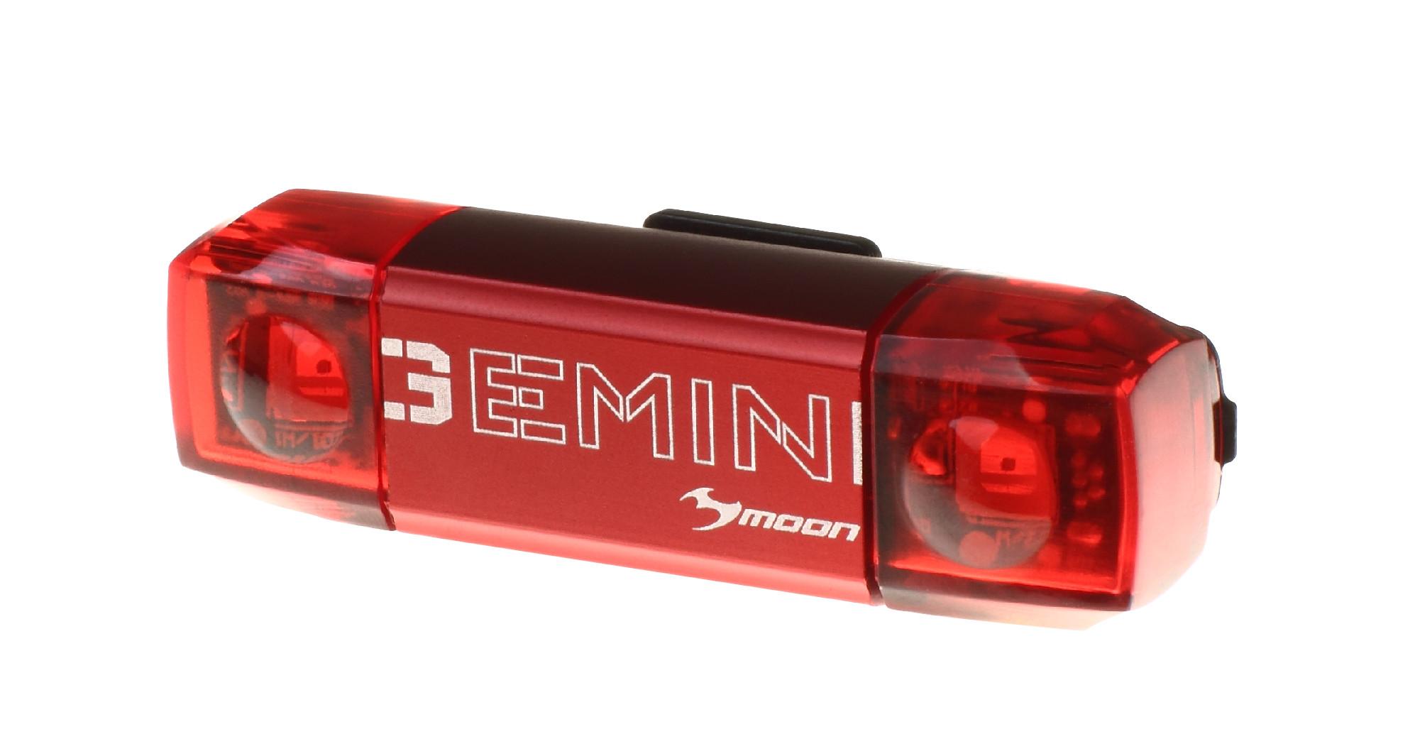 světlo zadní MOON GEMINI USB nabíjecí černé