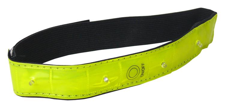 reflexní pásek PROFIL JY-1008, blikací 4x LED žlutý