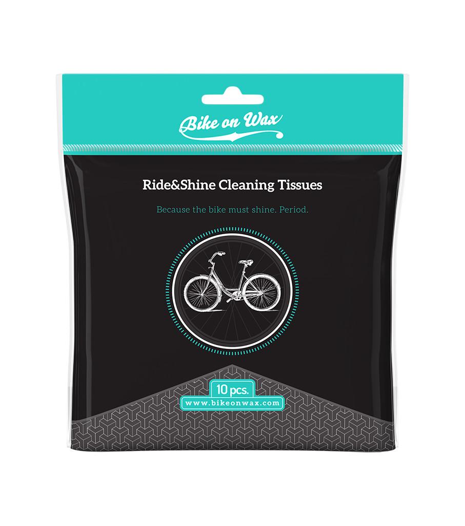 kapesníčky k čištění a leštění kola RIDE&SHINE