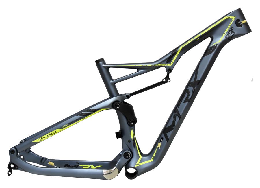 "rám 29"" MRX-FULL Carbon X7-120mm 17,5"" šedo-žlutý"