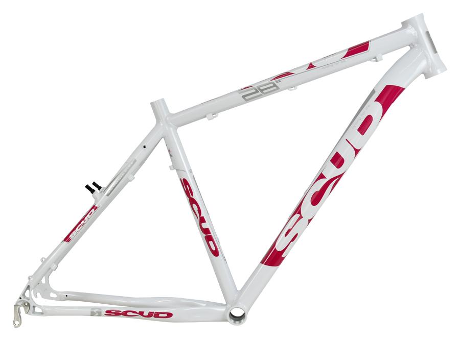 """rám 28"""" SCUD 7SC bílo-růžový"""